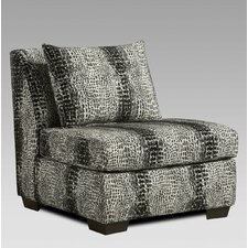 Cece Snakeskin Slipper Chair by Bloomsbury Market