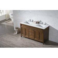 oakmont 59 double sink bathroom vanity set - Bathroom Vanity Double