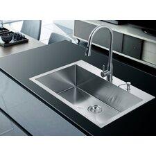 """33"""" x 22"""" Single Drop-In Kitchen Sink"""
