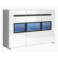Hektor Gloss Side Cabinet with LED by Helvetia