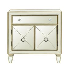 Reiser Mirrored 2 Door Accent Cabinet by House of Hampton®