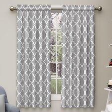 Backstrom Geometric Semi-Sheer Rod Pocket Curtain Panels (Set of 2)