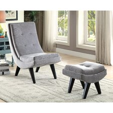 Northerly Curved Lounge Chair and Ottoman