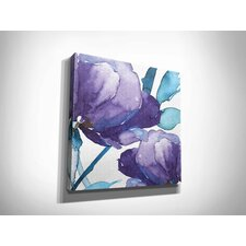 'Royal Blooms I' by Harrison Ripley Framed Painting Print on Wrapped Canvas