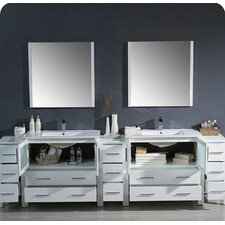 Torino 108 Double Modern Bathroom Vanity Set with Mirror by Fresca
