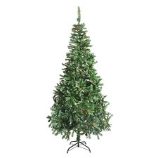 8' Green Pine Artificial Christmas Tree with Stand