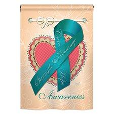 Ovarian Awaress 2-Sided Vertical Flag