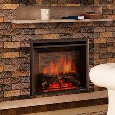"33"" Black 750/1500W Western Wall Mount Electric Fireplace Insert"