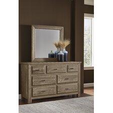 Fairfield 7 Drawer Dresser with Mirror by Loon Peak