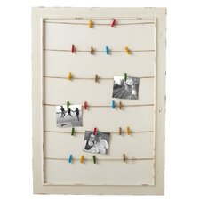 Framed Message Board with Colored Clothespins