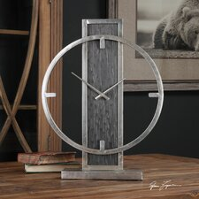 Modern Analog Wood Desk Clock