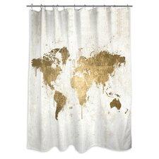 Musca 'Mapamundi' Shower Curtain