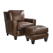 Alvarado Club Chair and Ottoman by Palatial Furniture
