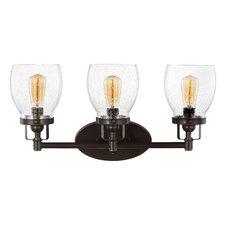 Yesler Heirloom Bronze 3-Light Vanity Light