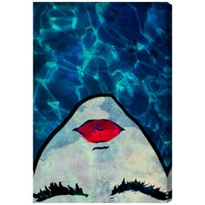Water Coveted Blue Graphic Art on Wrapped Canvas