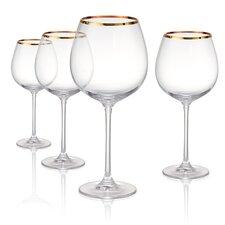 Gold Band Burgundy 24 oz Wine Glass, Set of 4 (Set of 4)