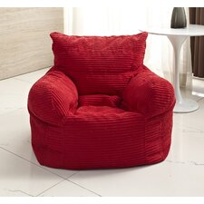 Solid Color Polystyrene Bean Bag Chair