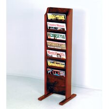 7 Pocket Free Standing Magazine Rack