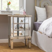 Cleethorpes 3 Drawer Bedside Table