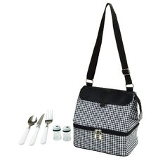 Houndstooth Insulated Lunch Bag