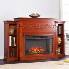 Langley Bookcase Electric Fireplace