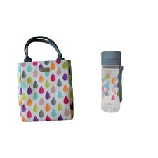 Raindrop Lunch Tote and Hydration Bottle