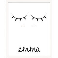 Sweet Sleepy Face Personalized with Name Paper Print