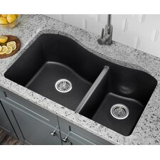 32 5 X 20 Quartz Double Bowl Kitchen Sink Silhouette Large Wood Cutting  Board 9000 250 From American Standard
