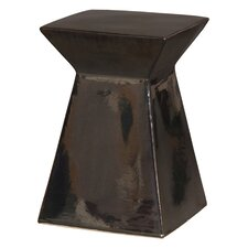 Upright Metallic Garden Stool