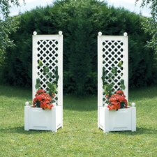 2 Piece Planter Box Set with Trellis (Set of 2)