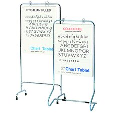 Adjustable Free-Standing Whiteboard, 5' H x 2' W