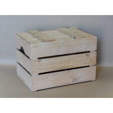 Wooden Reproduction Apple Crate with Lid