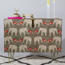Holli Zollinger Elephant and Umbrella Accent Cabinet by East Urban Home