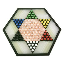 Hand-Crafted Marble Chinese Checker Game Set