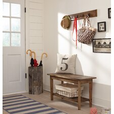 Wall Mounted Coat Rack with Bench