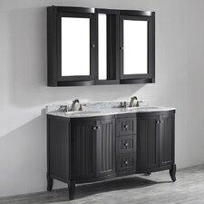 Verona 60 Double Vanity Set with Mirror by Vinnova