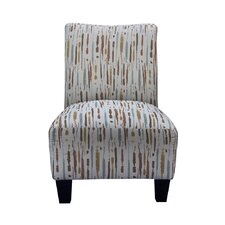 Grafton Spattered Armless Slipper Chair and Ottoman by Grafton Home