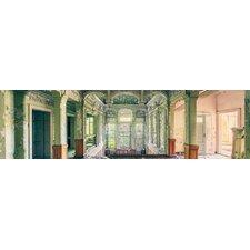 "Glasbild ""Top Label Acryl Abandoned Villa Green"", Fotodruck"