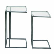 Metal and Acrylic 2 Piece End Table by Cole & Grey
