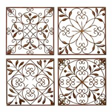 4 Piece Metal Wall Décor Set