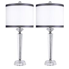 "Genuine Crystal 25.75"" Table Lamps (Set of 2)"