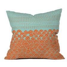 Shadrick The Infinite Tidal Light Blue Outdoor Throw Pillow