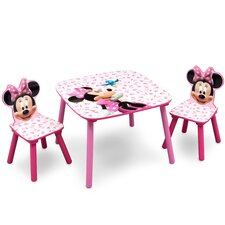 Minnie Children 3 Piece Square Table and Chair Set