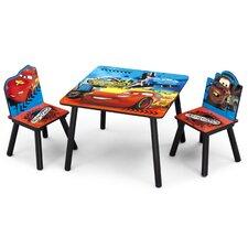 3-tlg. Tisch und Stuhl-Set Cars