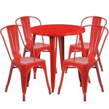 Metal Indoor/Outdoor 5 Piece Dining Set