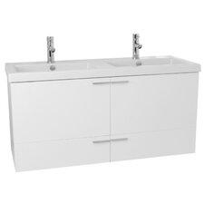 New Space 47 Double Bathroom Vanity Set by Nameeks Vanities