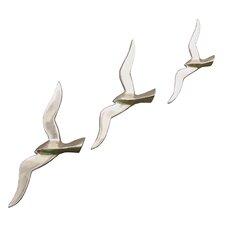 3-tlg. Wanddekorations-Set Flying Birds