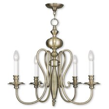 Echevarria 4-Light Metal Candle-Style Chandelier