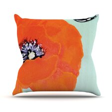 Vintage Poppy by Christen Treat Outdoor Throw Pillow by East Urban Home