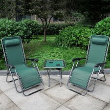 Double Sun Lounger Set with Table
